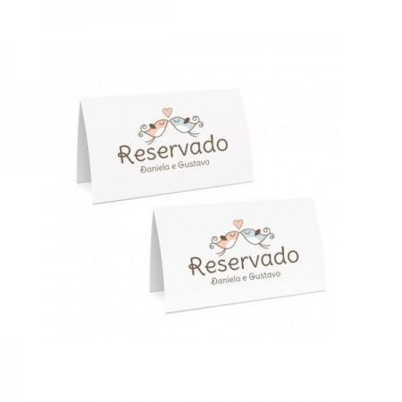 Kit Casamento reserva de mesa